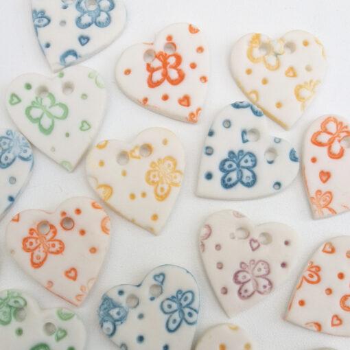 heart buttons