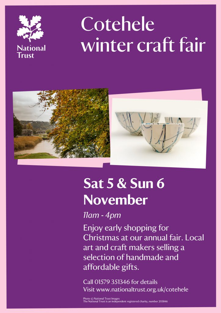 Cotehele Christmas Craft Fair 5th - 6th november 2016
