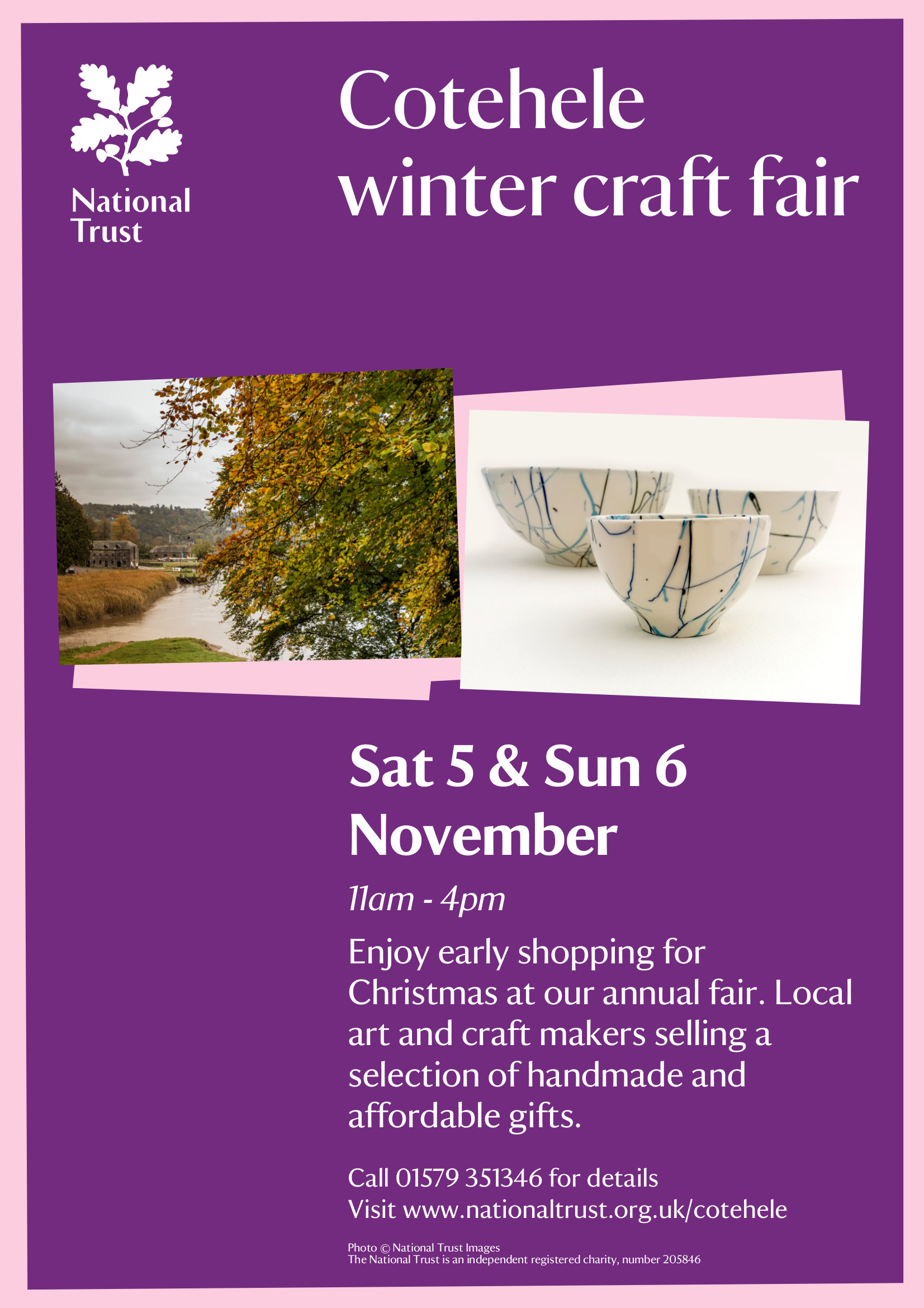 October 10 – Cotehele Craft Fair Poster
