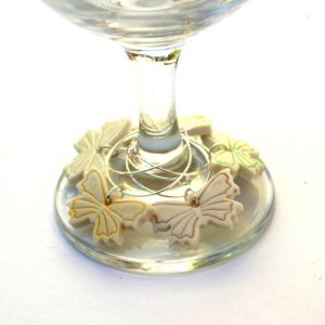 butterfly wine glass charms bridal shower favours