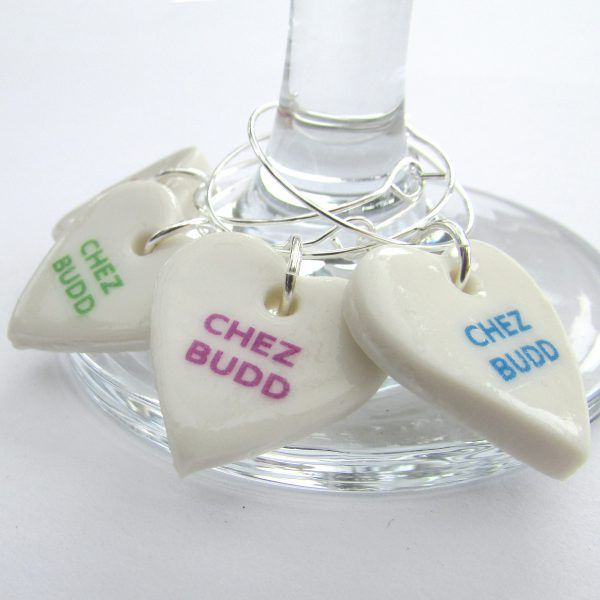 personalised wine charms